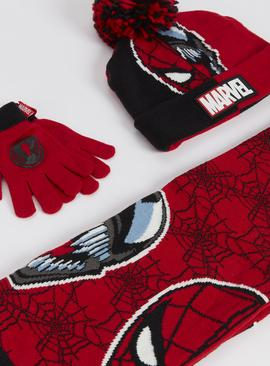 Marvel Spider-Man & Venom Scarf, Hat & Gloves