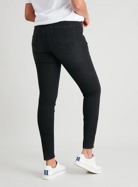 Washed Black High Waist Skinny Jeans