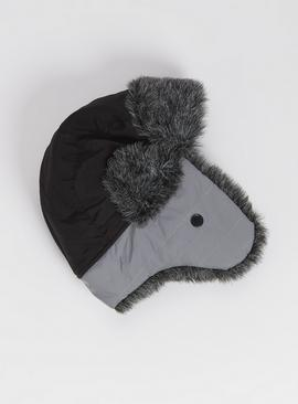 Grey Reflective Trapper Hat