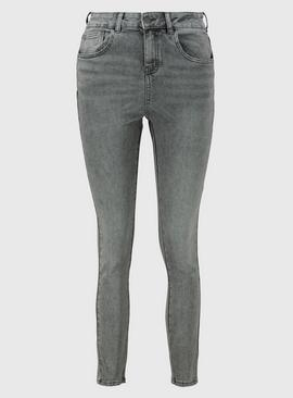 PETITE Grey Slim Leg Jeans With Stretch