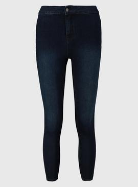 PETITE Dark Denim High Waisted Skinny Jeans