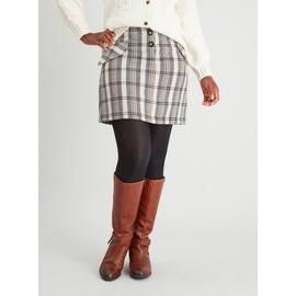 Herringbone Check Mini Skirt