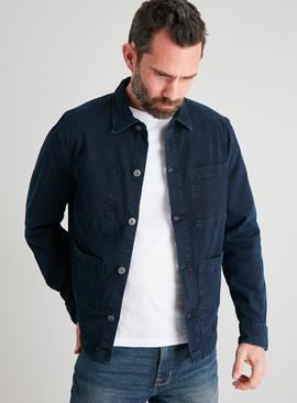 Dark Denim Chore Jacket Style Overshirt