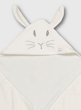 Peter Rabbit White Hooded Towel - One Size