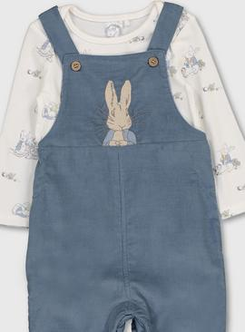 Peter Rabbit Blue Dungarees & Bodysuit