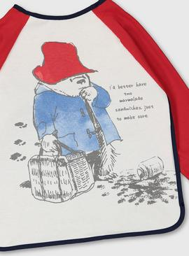 Paddington Bear Long Sleeve Bib - One Size
