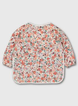 Ditsy Floral Print Long Sleeve Bib - One Size