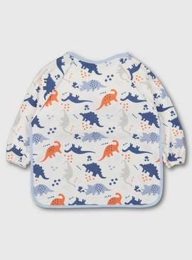 Dinosaur Print Long Sleeve Bib - One Size