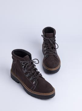 Sole Comfort Brown Lace Up Boots