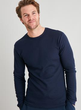 Navy Thermal 'Medium Warmth' Long Sleeve T-Shirt