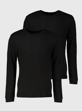 Black Long Sleeve Thermal T-Shirt 2 Pack