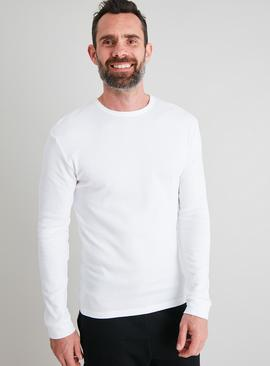 White Long Sleeve Thermal Top 2 Pack