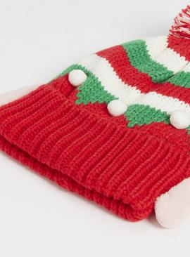Christmas Red Elf Hat