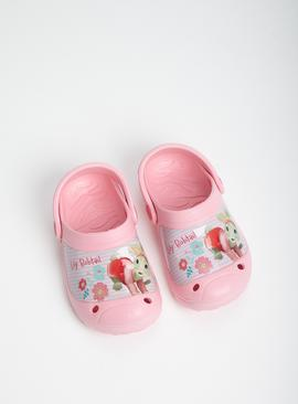 Peter Rabbit Pink Lily Bobtail Clogs