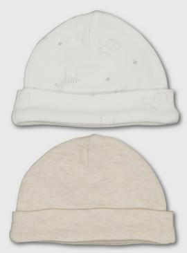 Oatmeal Premature Baby Hat 2 Pack