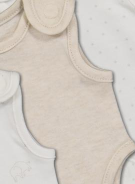 White Premature Baby Bodysuits 3 Pack