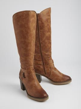 Sole Comfort Tan Knee High Boots