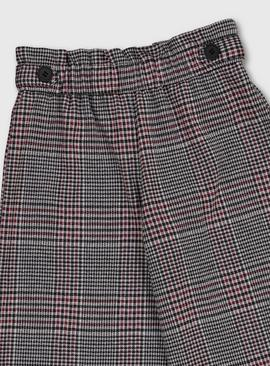Grey & Pink Check Culottes