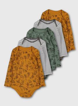 Wilderness Print Bodysuit 5 Pack