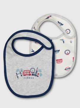 London Print Bibs 2 Pack - One Size