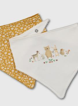Woodland Animal Hanky Bibs 2 Pack - One Size