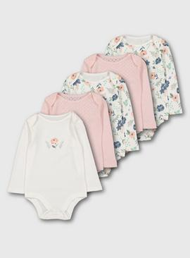 Floral & Pointelle Bodysuits 5 Pack