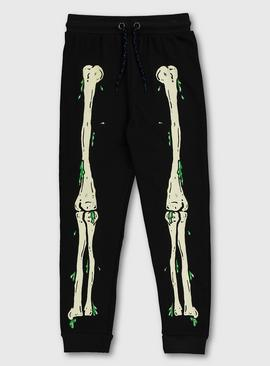 Halloween Black Skeleton Joggers