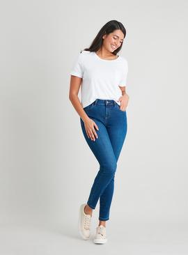 Mid Wash Denim Skinny Jeans