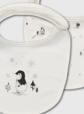 Penguin Organic Cotton Milk Bibs 2 Pack - One Size