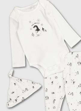 Penguin Organic Cotton Bodysuit Set