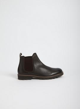 Sole Comfort Brown Leather Chelsea Boots