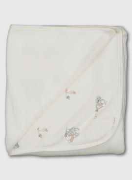 Peter Rabbit Cream Printed Shawl - One Size