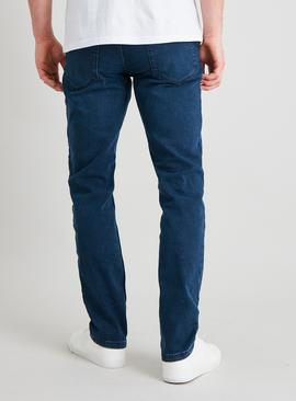 Blue Mottle Wash Utimate Stretch Slim Leg Jeans