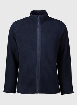 Navy Chunky Zip Through Fleece