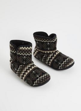Fair Isle Slipper Boots
