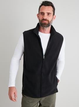 Black Fleece Zip-Through Gilet