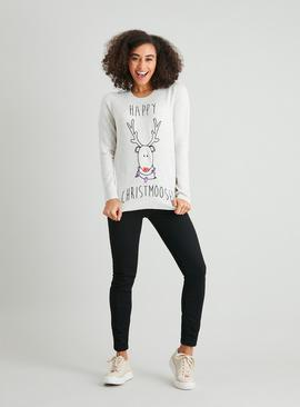 Christmas Cream 'Happy Christmoose' Jumper