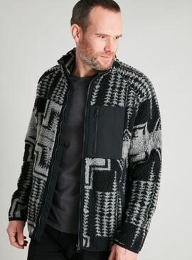 Aztec Pattern Borg Fleece