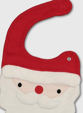 Christmas Red Santa Bib - One Size