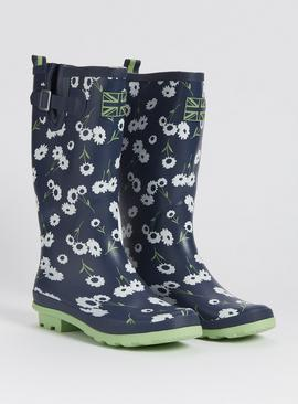 Daisy Print Wellies