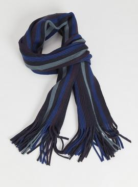 Blue Stripe Scarf - One Size
