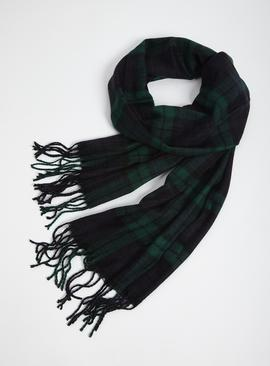 Black Watch Tartan Woven Scarf - One Size