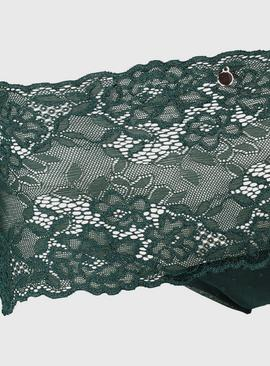 Green Galloon Lace Knicker Shorts