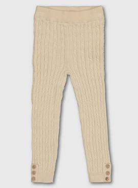 Oatmeal Cable Knit Leggings