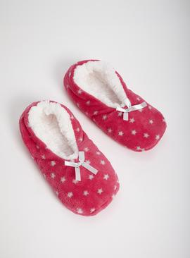Pink Star Print Footsies