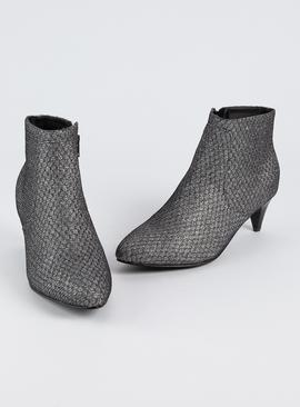Sole Comfort Silver Glitter Party Boots