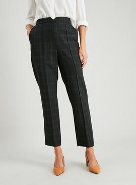 Green Check Slim Leg Trousers