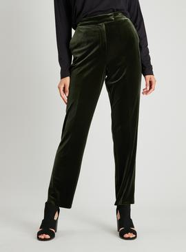 Dark Green Velvet Trousers