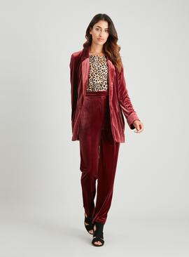 Dark Red Velvet Trousers