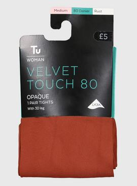 Rust Velvet Touch 80 Denier Tights